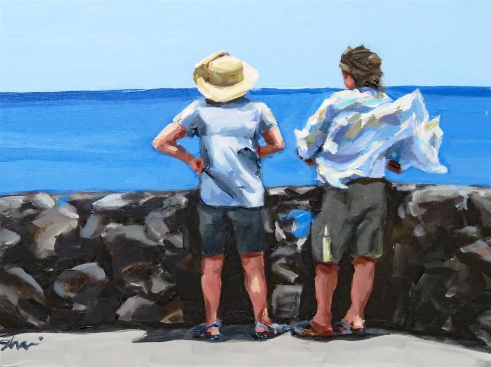 """Blown Out Tourists"" original fine art by Shari Buelt"