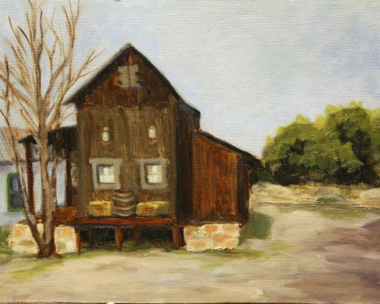 """""""Old Feed Store"""" original fine art by Jane Frederick"""