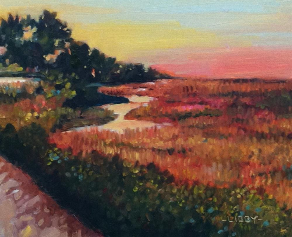"""On the Island"" original fine art by Libby Anderson"