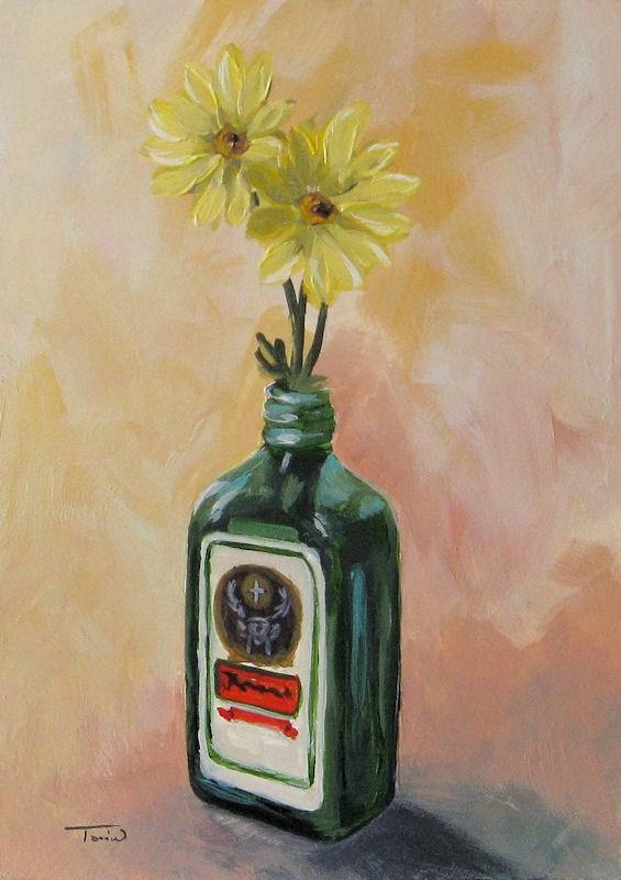 """Drunk Daisies"" original fine art by Torrie Smiley"
