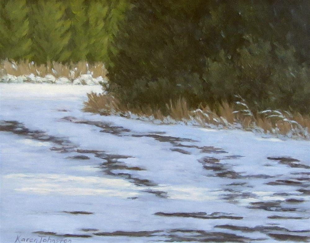 """Fresh Snow"" original fine art by Karen Johnston"