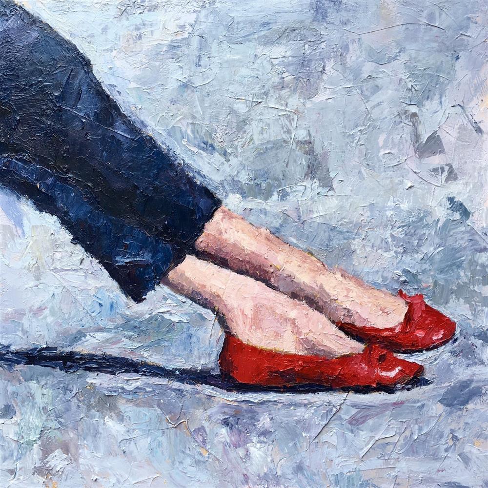 """Ruby Slippers"" original fine art by Nava Judith"