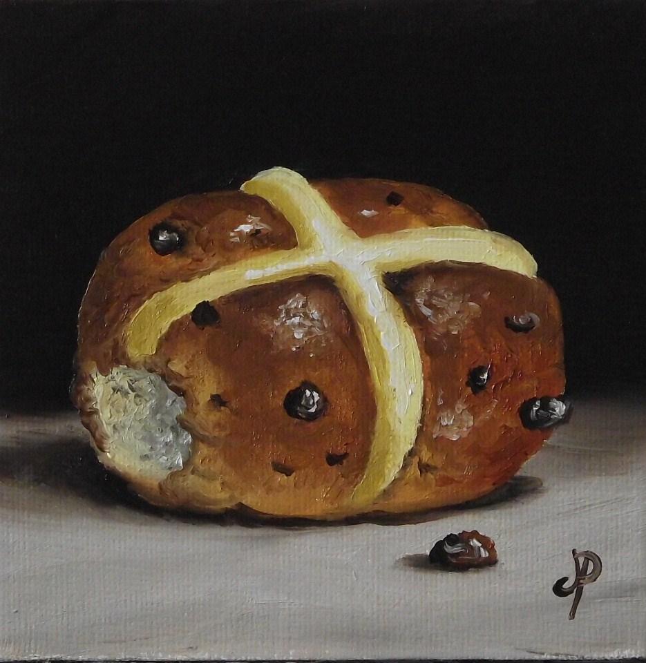"""""""Little hot cross bun"""" original fine art by Jane Palmer"""