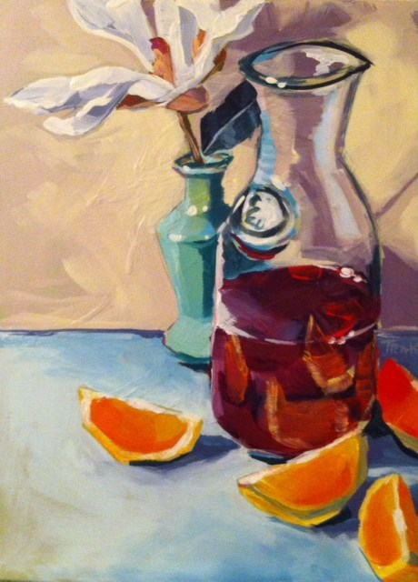 """Juice in the Milk Jug"" original fine art by Teddi Parker"