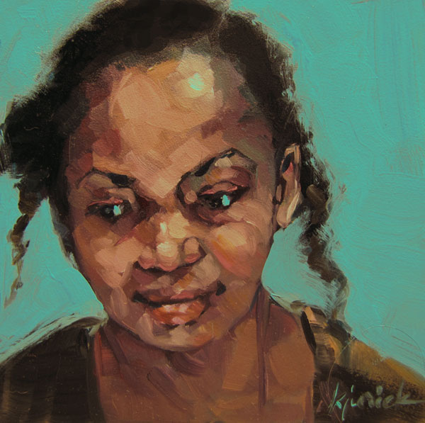"""100 Faces, No. 26"" original fine art by Karin Jurick"