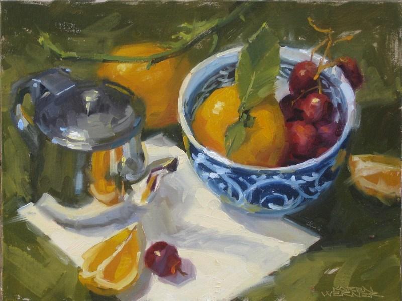"""Bowl & Creamer"" original fine art by Karen Werner"