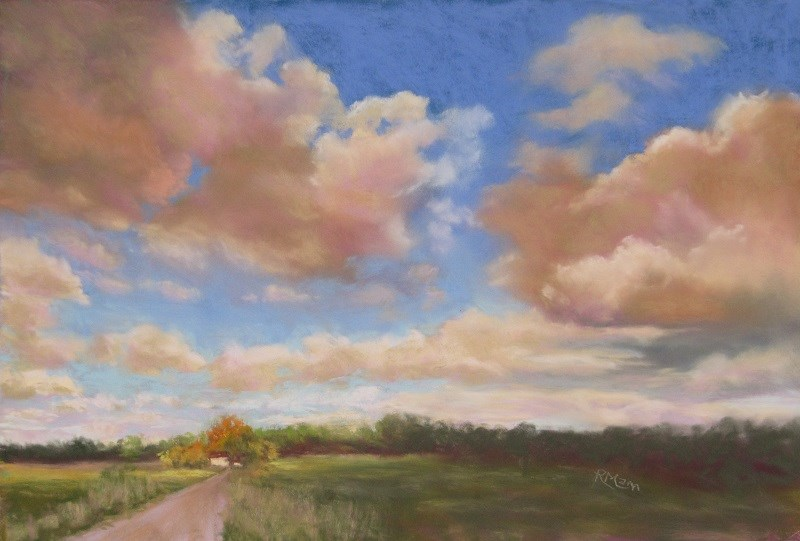 """Norfolk Sky"" original fine art by Ruth Mann"