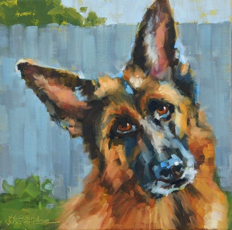 """Loyal"" original fine art by Karen Werner"