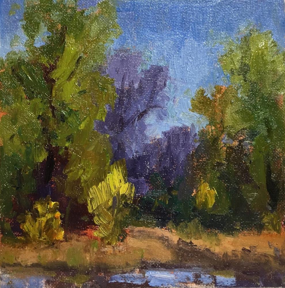 """Across the River"" original fine art by Victoria  Biedron"