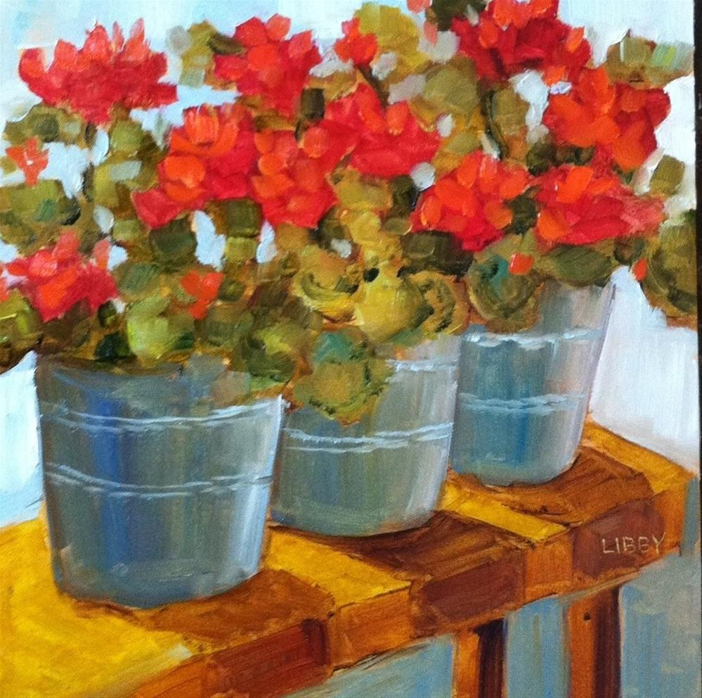 """""""Benched"""" original fine art by Libby Anderson"""
