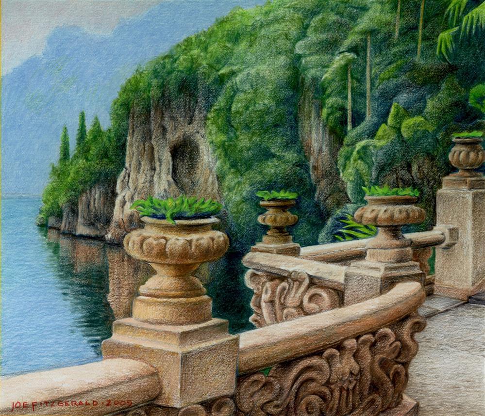 """""""Villa Balbianello"""" original fine art by Joe Fitzgerald"""