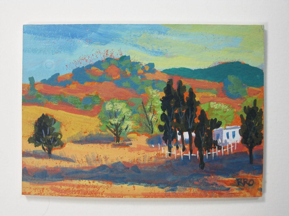 """""""Foothill Homestead #2"""" original fine art by Rhett Regina Owings"""