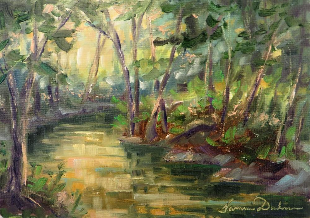 """The Little Muddy Creek"" original fine art by Tammie Dickerson"
