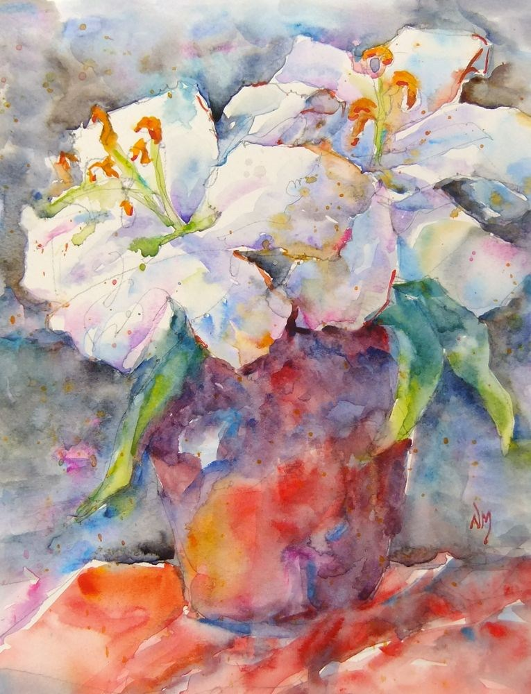 """""""May Lilies"""" original fine art by Nora MacPhail"""