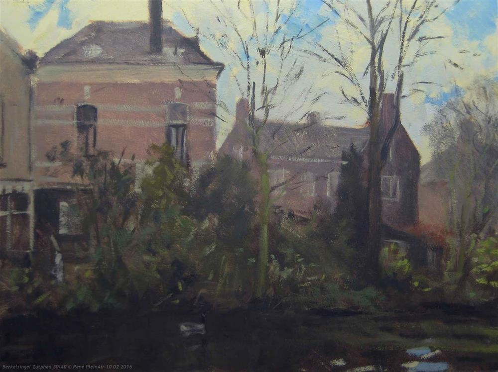 """Berkelsingel. Zutphen, The Netherlands."" original fine art by René PleinAir"