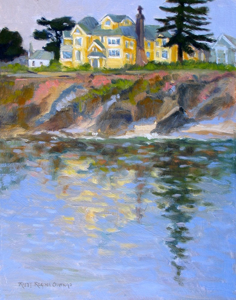 """Yellow Inn at Pacific Grove"" original fine art by Rhett Regina Owings"