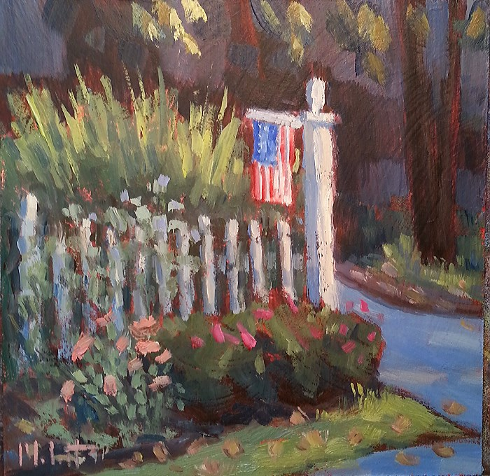 """Autumn Joy First Signs of Fall Suburban Landscape Oil Painting"" original fine art by Heidi Malott"