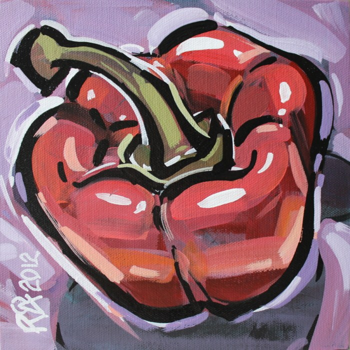 """""""Bell pepper abstraction 1"""" original fine art by Roger Akesson"""
