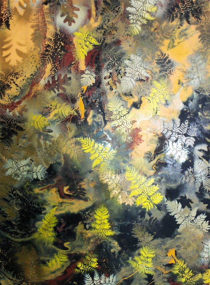 """""""Forest Fall"""" original fine art by Khrystyna Kozyuk"""
