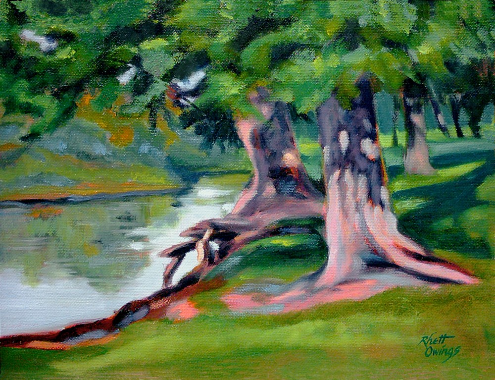 """Legion Park Trees"" original fine art by Rhett Regina Owings"