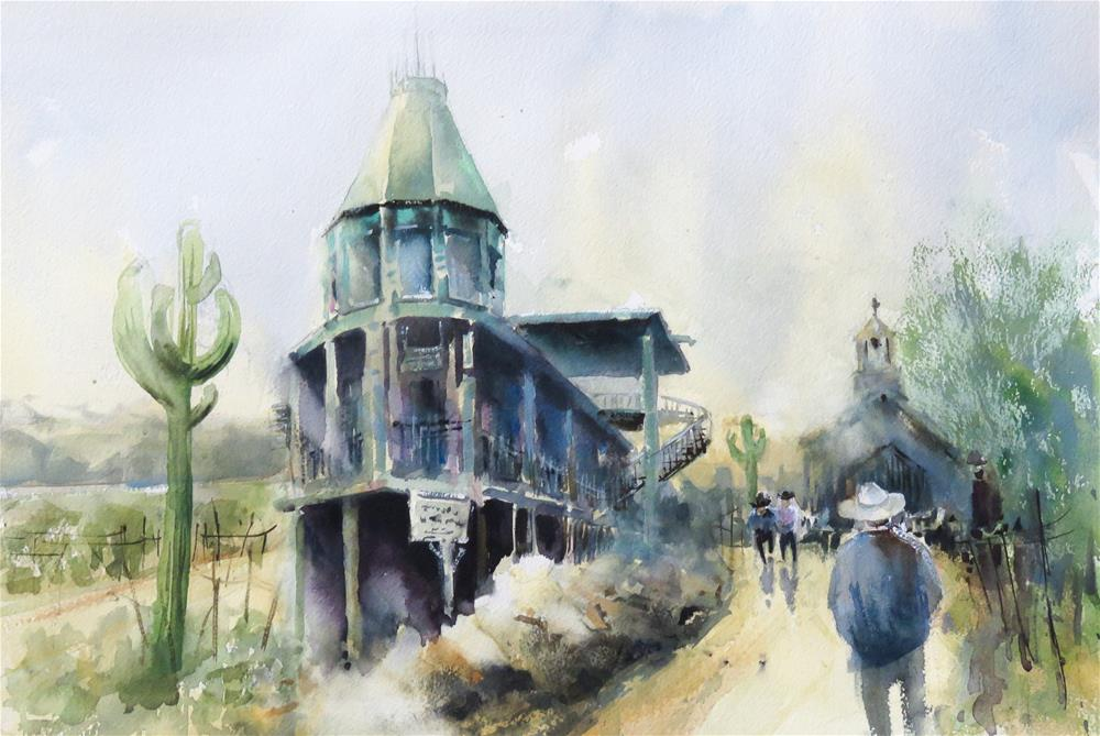 """Goldfield Ghost Town"" original fine art by Christa Friedl"