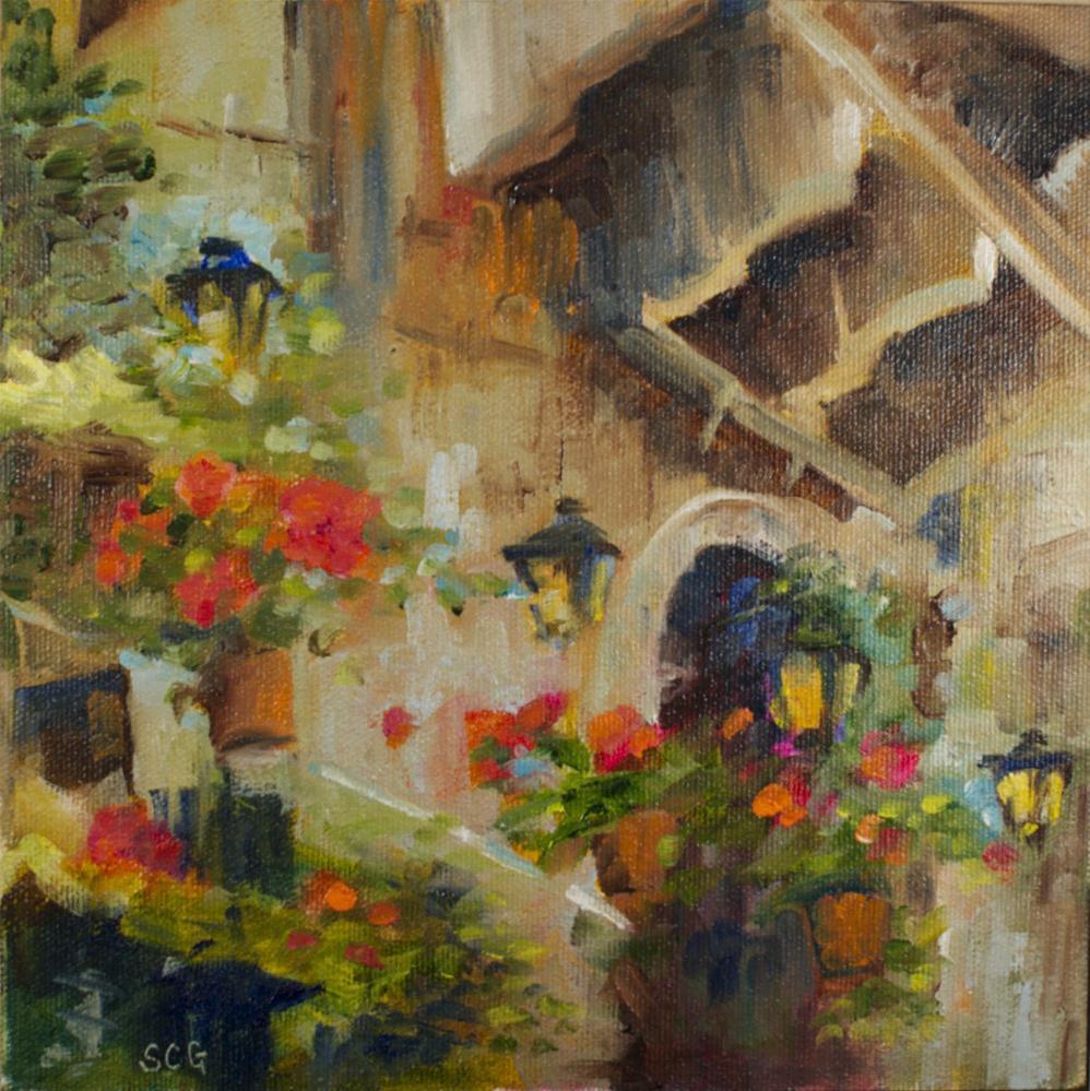 """""""Venice"""" original fine art by Sue Churchgrant"""