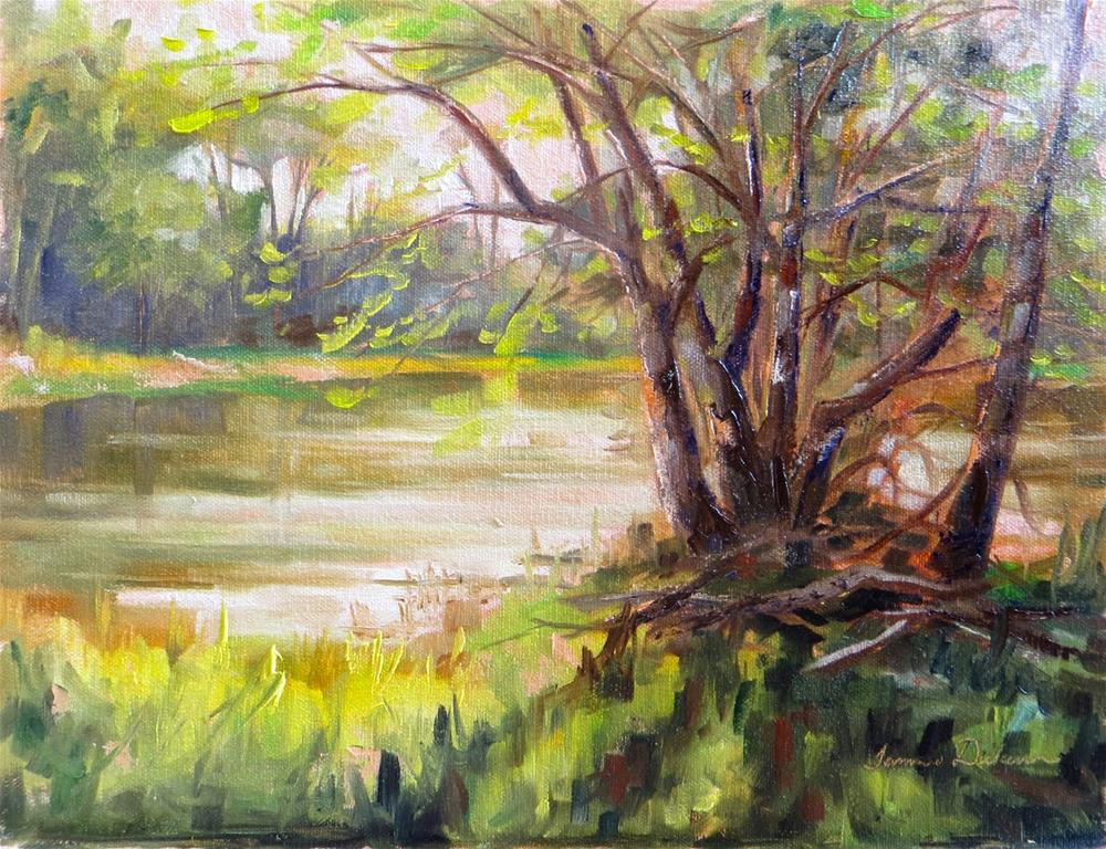 """""""Craggy Trees at the Wabash"""" original fine art by Tammie Dickerson"""