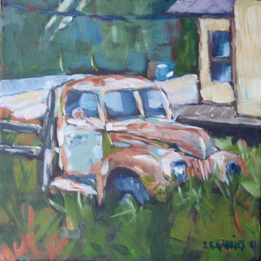 """""""rusty old thing"""" original fine art by Shelley Garries"""