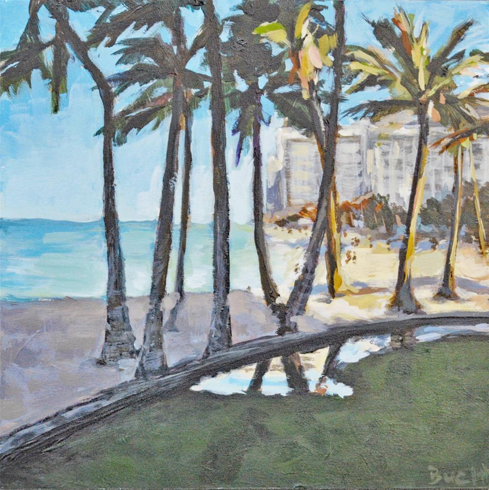 """""""Early Morning in Waikiki"""" original fine art by Shari Buelt"""