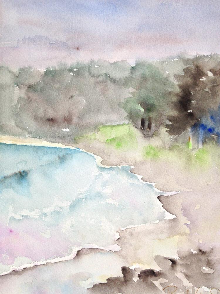 """Foggy Day at San Simeon"" original fine art by Pamela Gorecki"