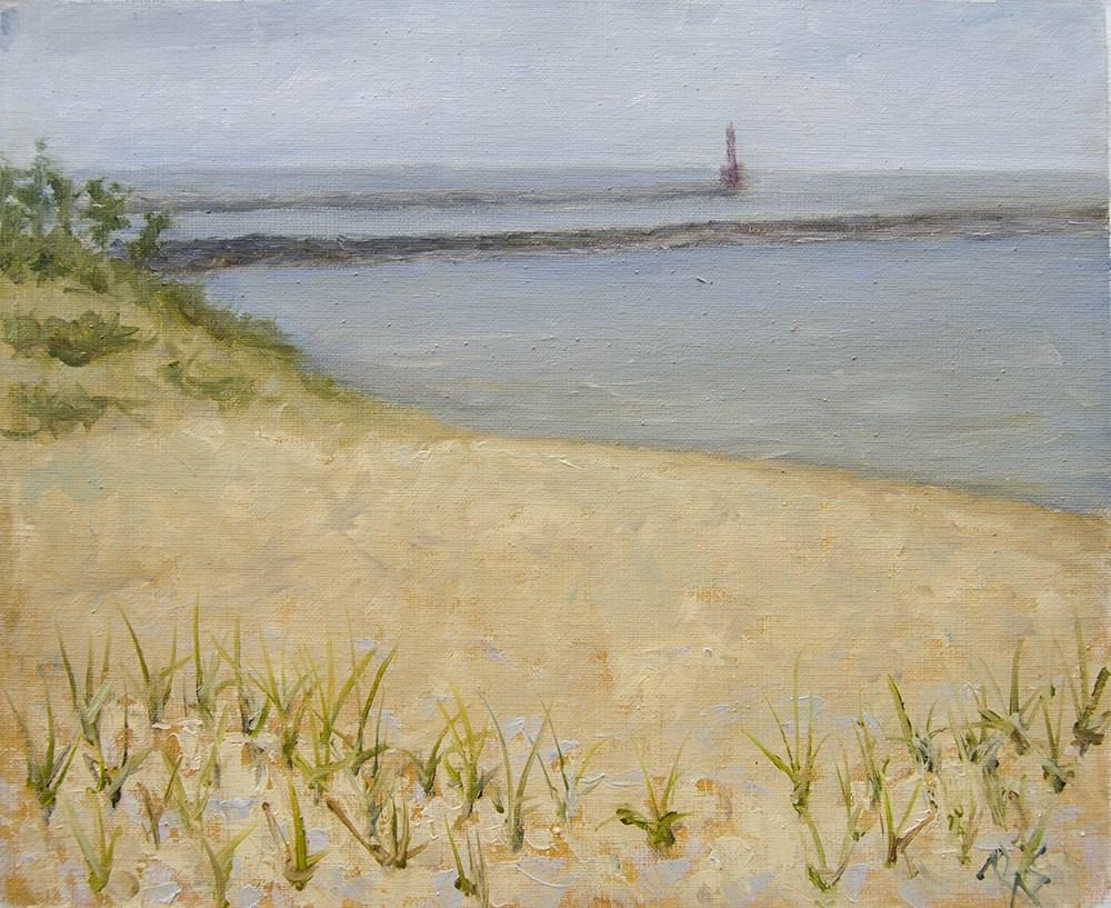 """Rainy Evening near the Lake"" original fine art by Rachel Steely"