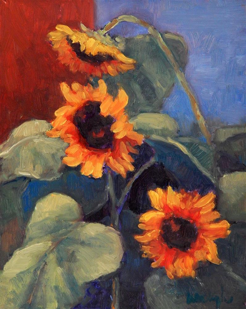 """Sunflowers"" original fine art by Lisa Kyle"