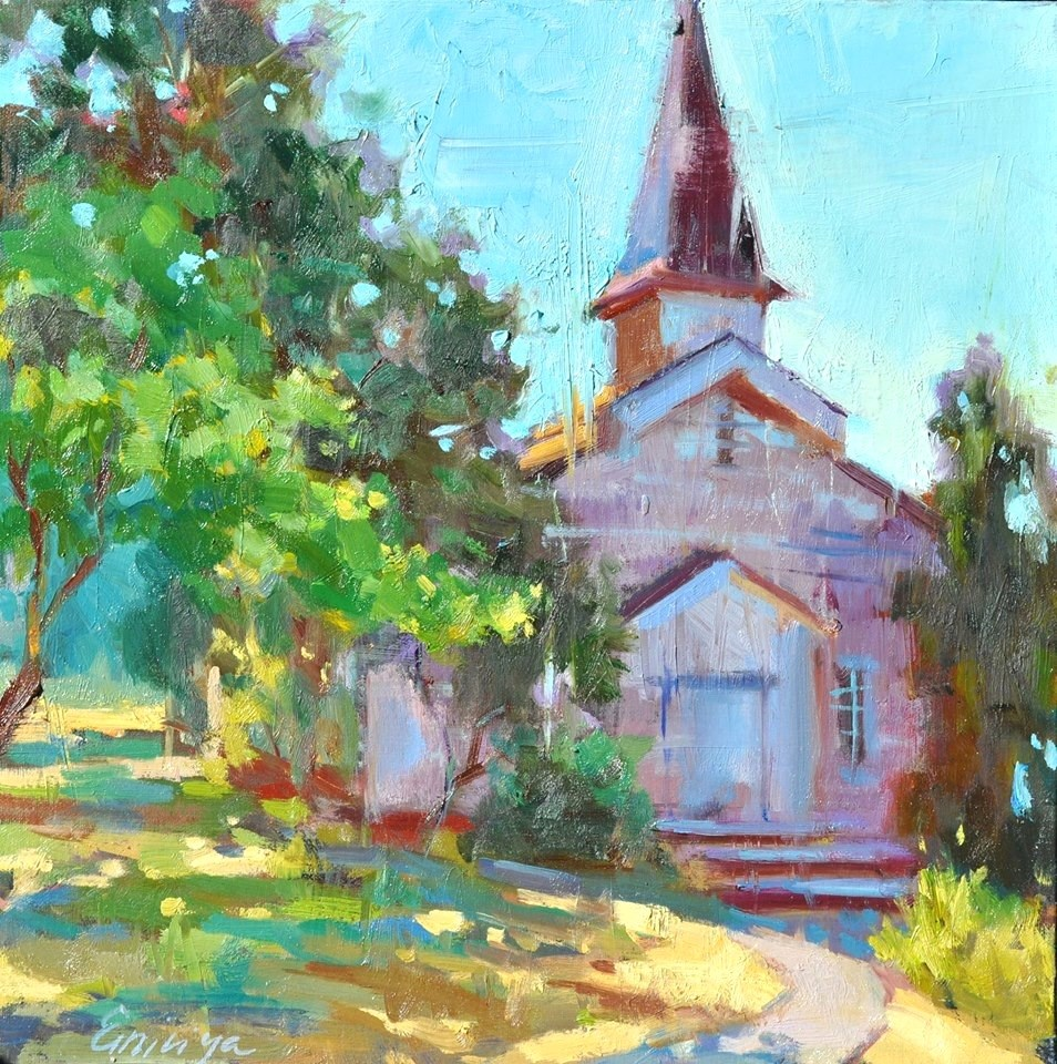 """Old Chapel "" original fine art by Emiliya Lane"