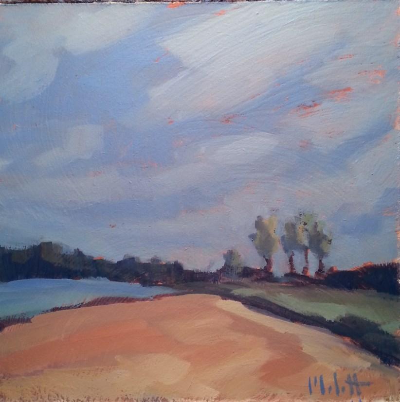 """The Reservoir Summer Beach Original Daily Oil Painting"" original fine art by Heidi Malott"