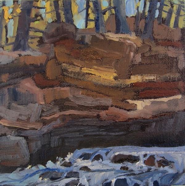 """Rocks and Rapids, Georgian Bay"" original fine art by Nicki Ault"