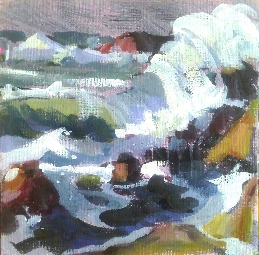"""Laguna Coast after Payne"" original fine art by Liz Maynes"