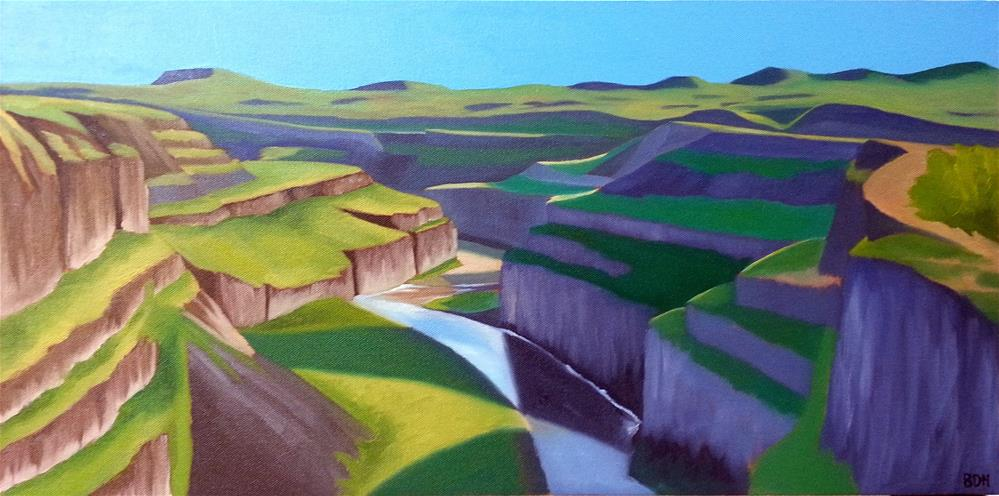 """Canyon on the Palouse"" original fine art by Beth Hunt"