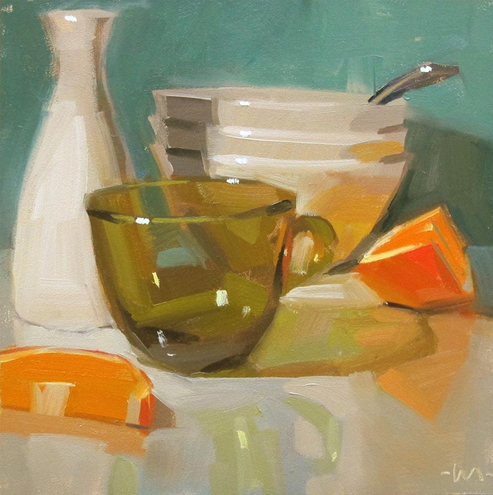 """Green Cup"" original fine art by Carol Marine"