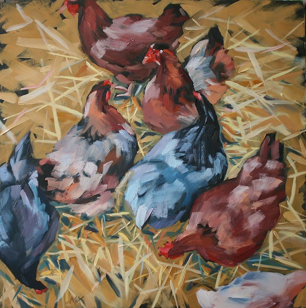 """""""Here a Chick....."""" original fine art by Mary Anne Cary"""