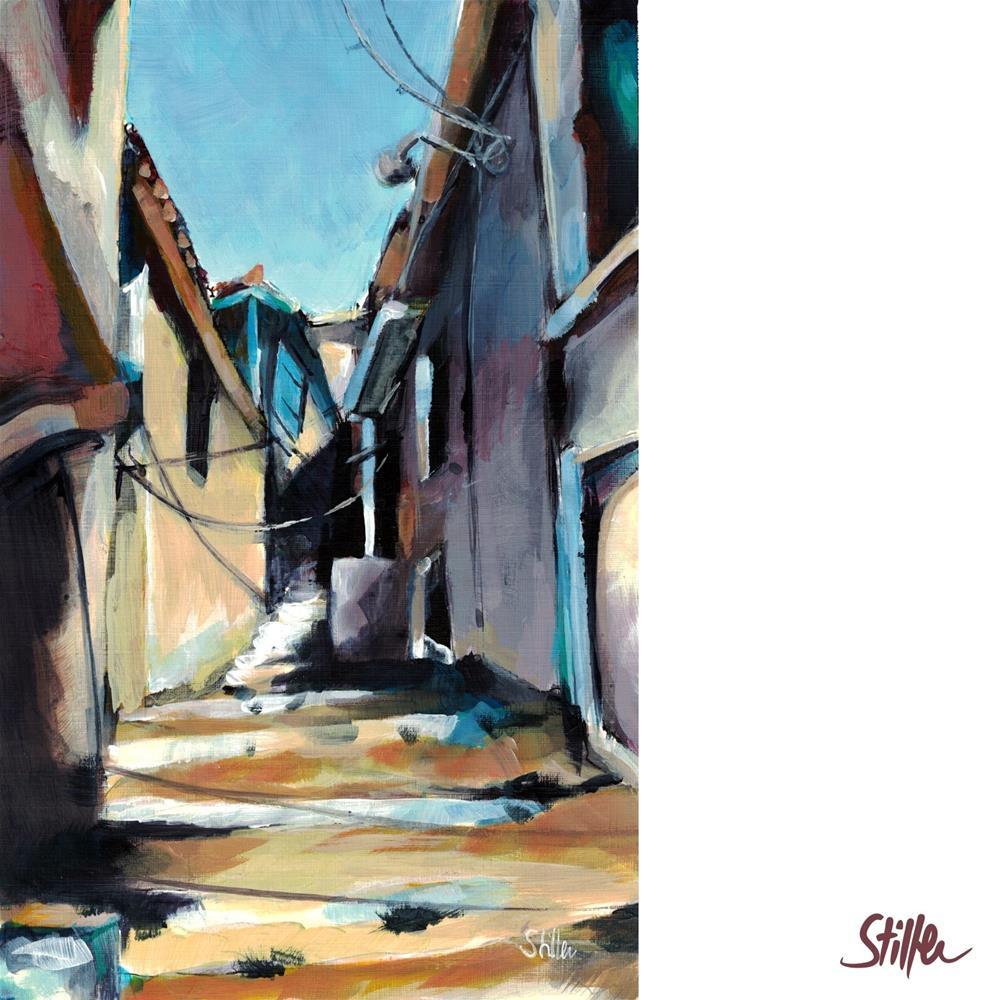 """""""3508 Greek Alley"""" original fine art by Dietmar Stiller"""