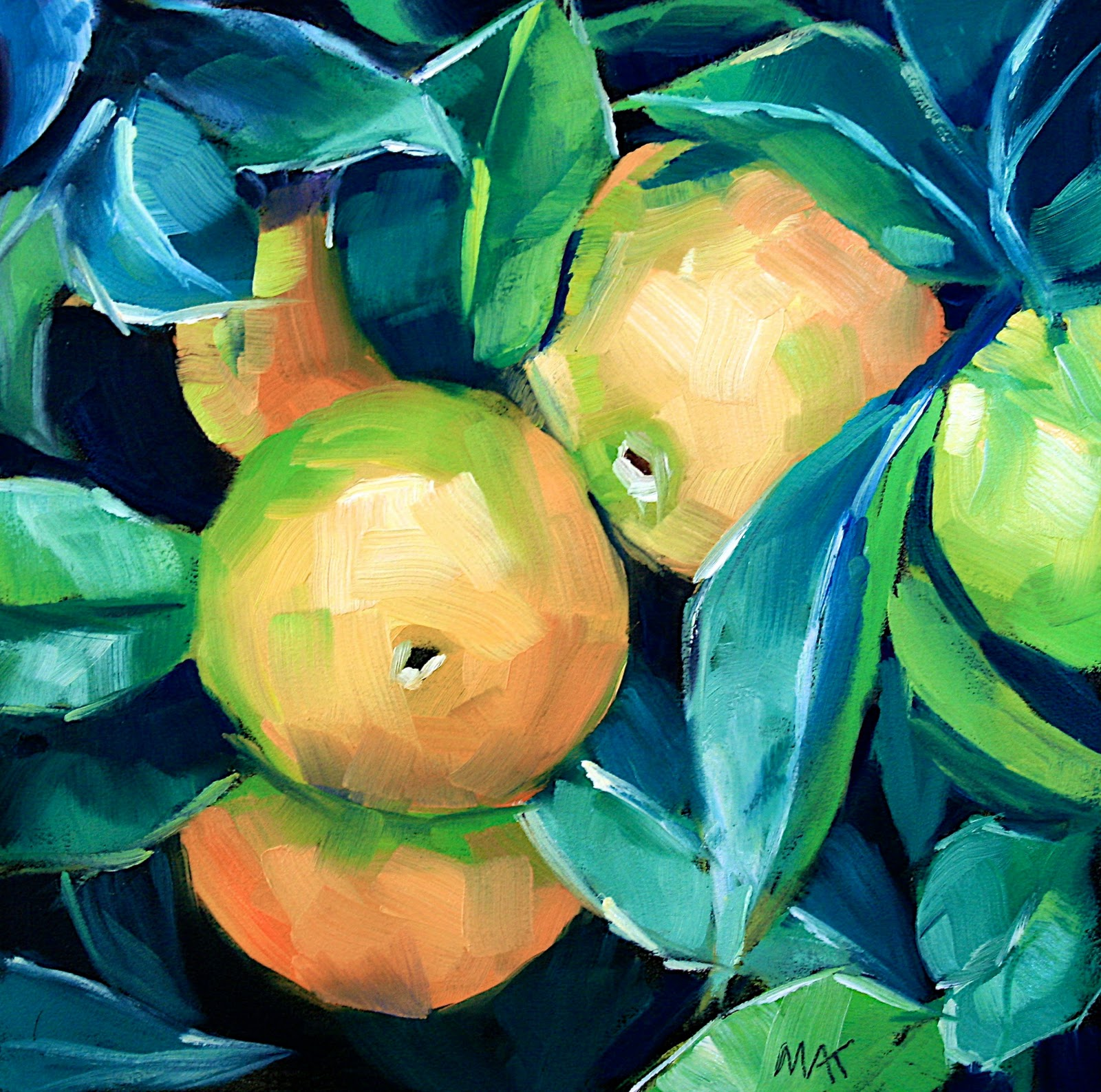 """Orange Tree"" original fine art by Mary Anne Cary"