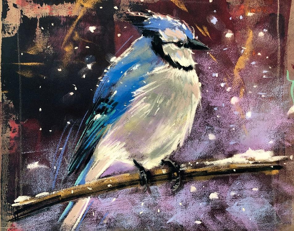 """Winter Blue"" original fine art by Marla Baggetta"