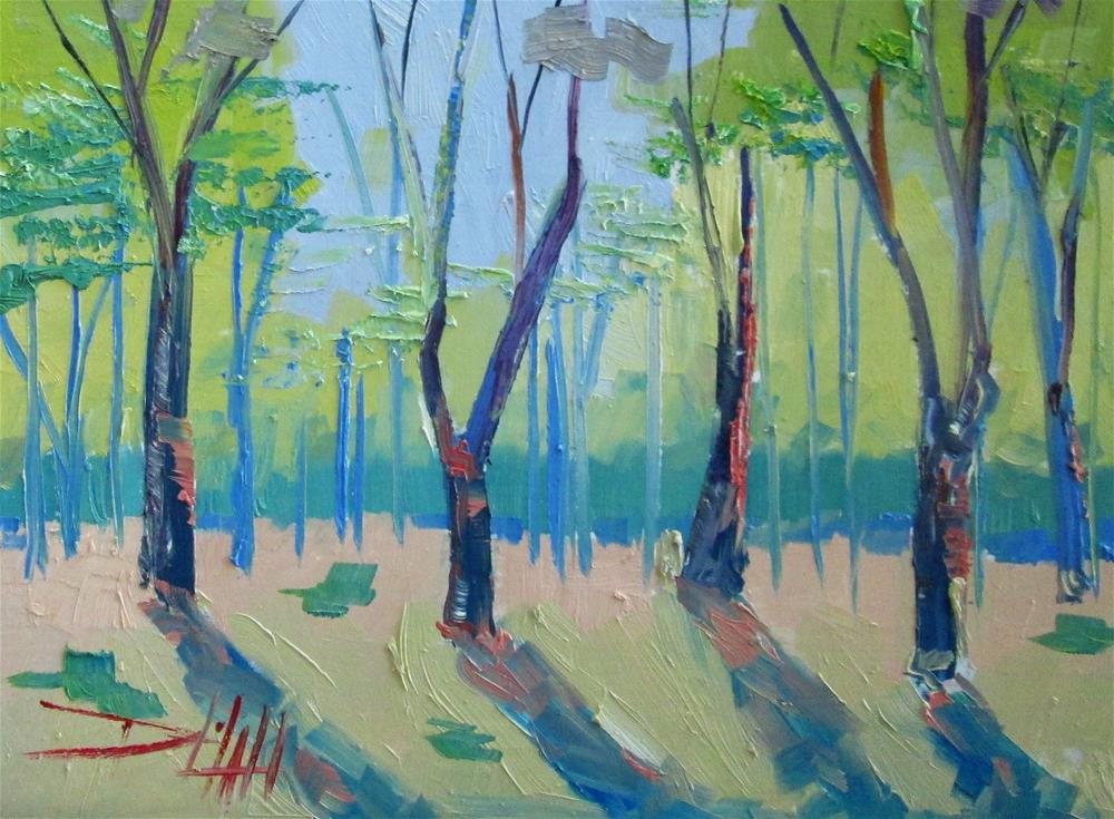 """Spring Woods"" original fine art by Delilah Smith"