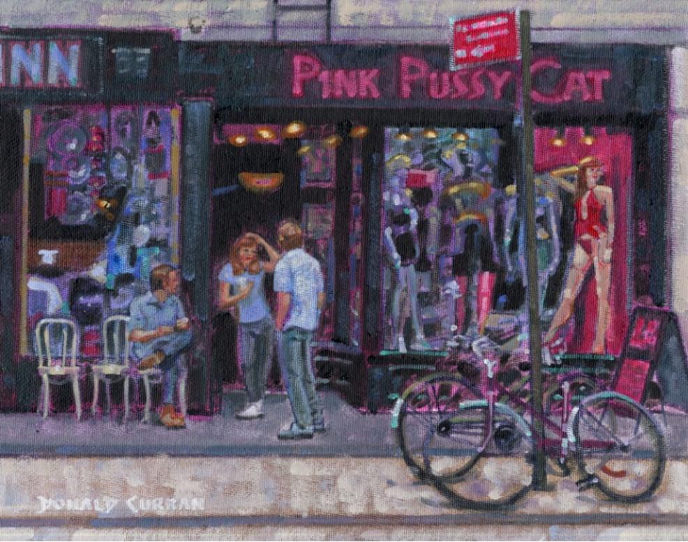 """New York Street Scene"" original fine art by Donald Curran"