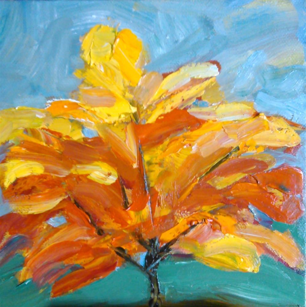 """Flaming tree"" original fine art by Gerri Obrecht"