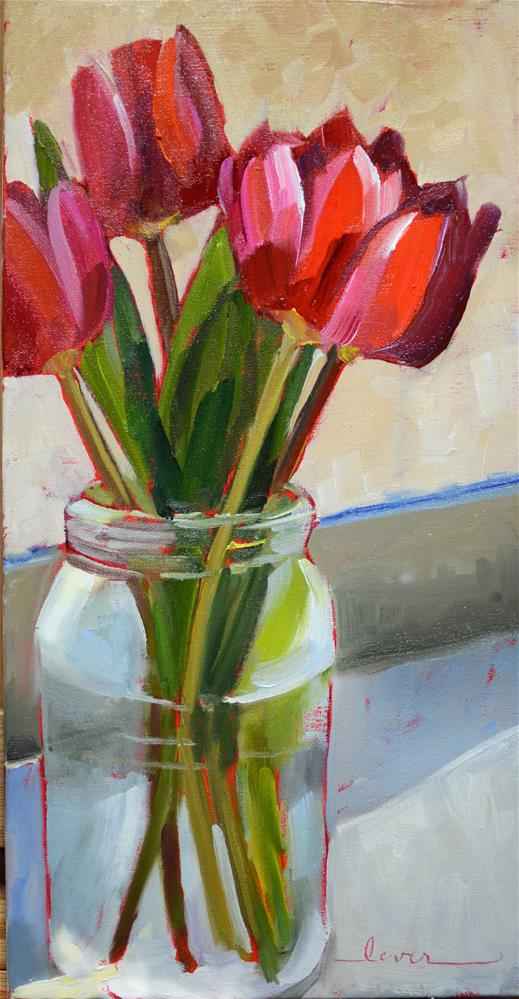 """Lori's Tulips"" original fine art by Martha Lever"