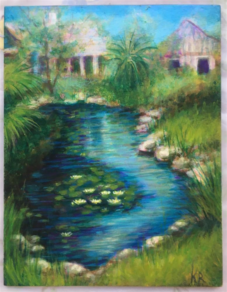 """Pond Out Back"" original fine art by Karen Roncari"