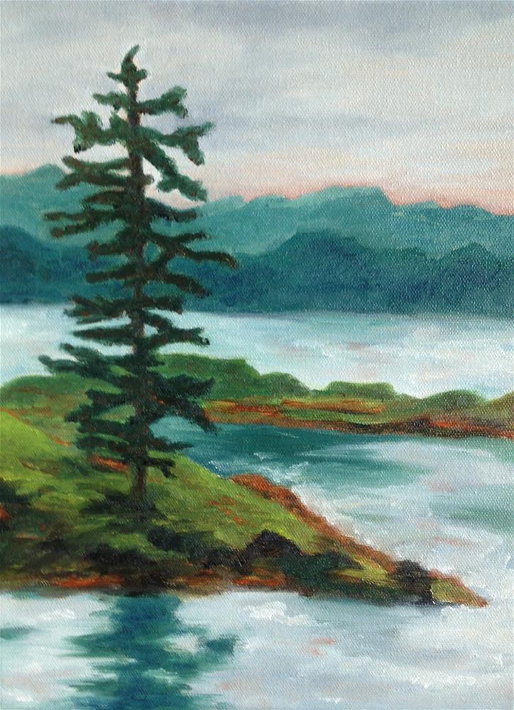 """""""Pine Island"""" original fine art by Karen Collins"""