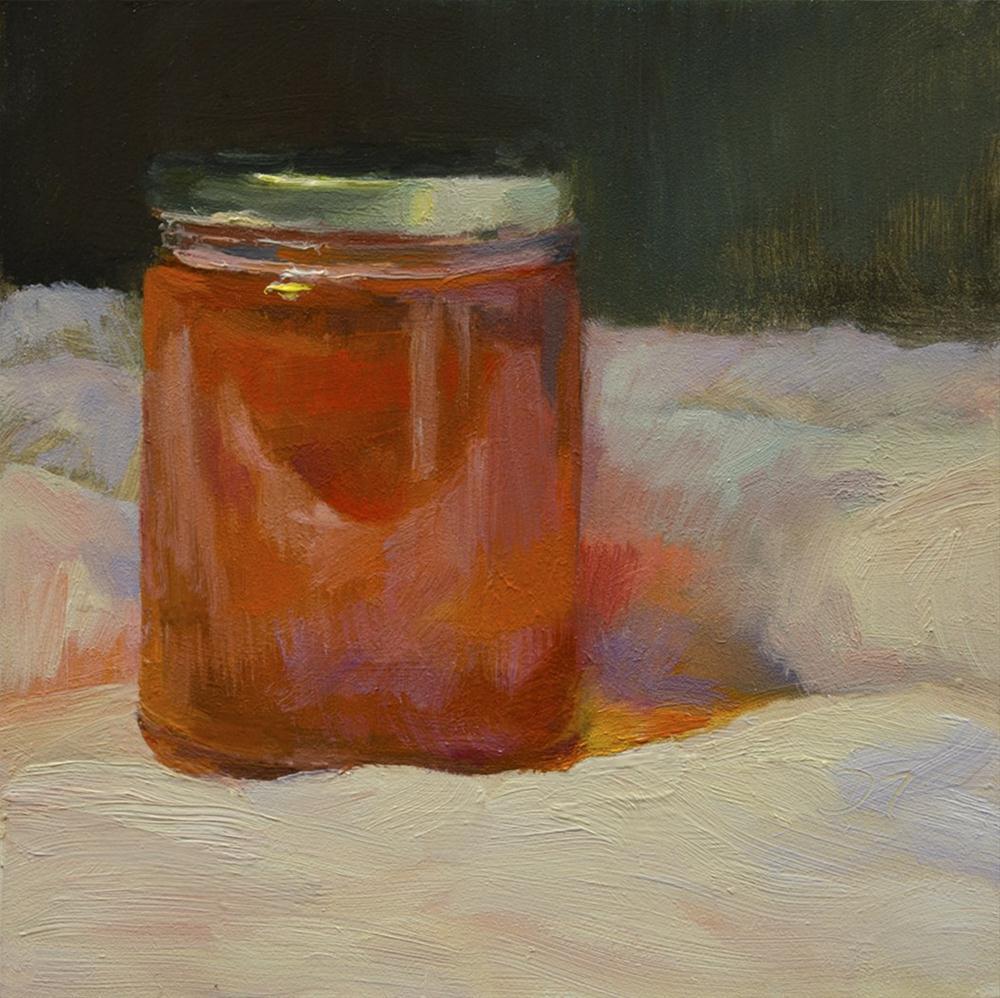 """Local Blueberry Honey"" original fine art by Denise Maxwell"
