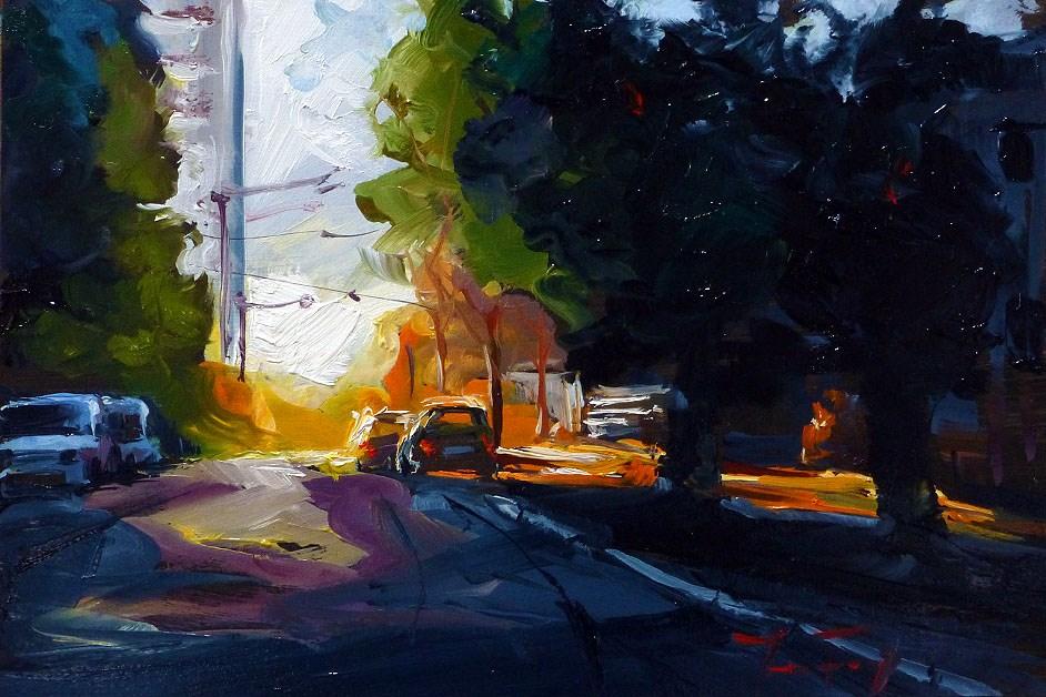 """""""early in the morning"""" original fine art by Jurij Frey"""